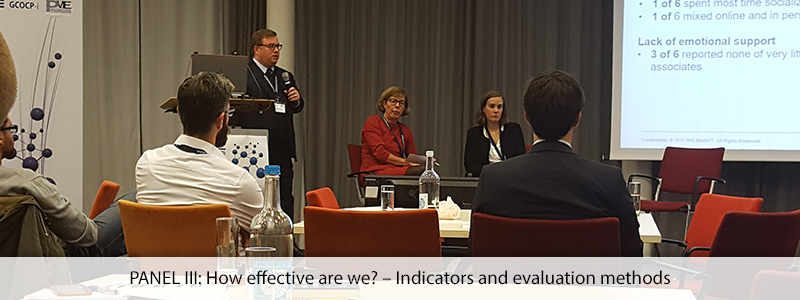 PANEL III: How effective are we? – Indicators and evaluation methods